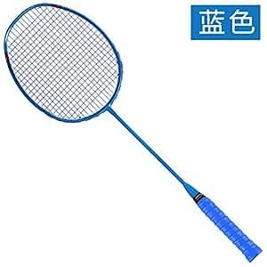 缘诺亿 全碳素 羽毛球拍 单拍纯色男女羽毛球拍SK88#单支 (深蓝色高端全碳素单支)