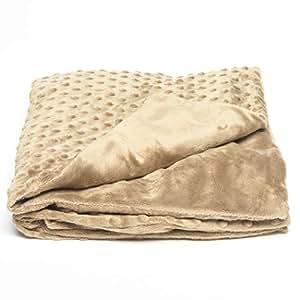Creature Commforts 儿童加重毯 - 重量为 4 磅 - 10 磅 - 7 种颜色可供选择 - 美国制造 手工制作 - **填充,可拆卸盖子 Chai Tan 10lb