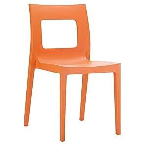 siesta 独家 lucca 室内/户外堆叠电脑椅4件套 橙色