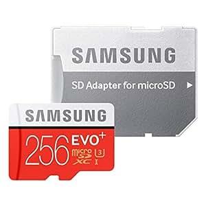 三星 EVO+ 256GB UHS-I microSDXC U3 内存卡带适配器 (MB-MC256DA/AM) MB-MC256DA/AM 1包