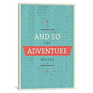 iCanvasART AMF53-1PC6 The Adventure Begins Canvas Print by American Flat, 1.5 by 40 by 26-Inch