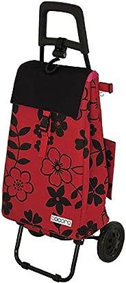 レップ COCORO(コ?コロ) ショッピングカート 折りたたみ (保冷保溫機能) フラワー 紅色