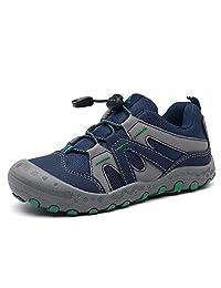 Mishansha 男孩女孩徒步鞋网状针织低帮运动鞋户外徒步散步登山跑