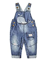 Kidscool Space 女婴轻松换尿布裤腿鲸鱼刺绣牛仔裤
