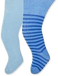 Playshoes 婴儿女孩河马和纯色舒适腰带连裤袜(2 件)