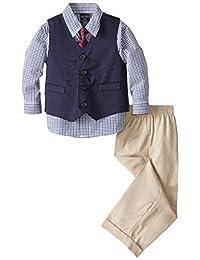 Nautica Baby Boys' Twill Vest Set, Khaki