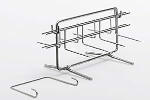 美食Multigrill 401 多功能 2 烧烤架,包括 2 个旋转脚和 2 个带有 4 个烤串的食品架