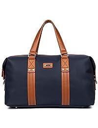 DANJUE 丹爵 男式 时尚旅行包潮流款单肩休闲商务斜挎包 D8072-1 蓝色 47cm*25cm*19cm