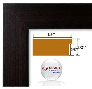 9x25 Custom Elegant 1.5 inch Columbian Coffee Dark Brown Finish wall decor Picture Poster Frame Wood Composite Mdf #CTMColumbian