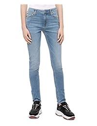 Calvin Klein 女式印 CKJ 021中腰修身牛仔褲