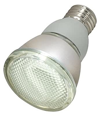 Satco S7209 11-Watt Medium Base PAR20, 5000K, 120V, Equivalent to 50-Watt Incandescent Lamp with U.L. Wet Location Listed
