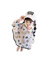 Moonnut 女婴夹克带兜帽弹簧外套拉链独角兽,适合1-5岁幼儿