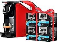 Bialetti Break咖啡壶(超紧凑)适用于铝制胶囊,咖啡胶囊,红色 + 64 个免费咖啡胶囊