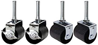 ~Kings Brand Heavy Duty Caster Wheels For Bed Frame ~~Set Of 4~~ (2 Locking & 2 None Locking)~