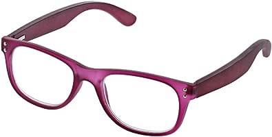 Peepers 中性成人三用杯 - 紫色/木色 2515200 方形老花镜,紫色和木色,2