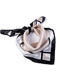 Kerchief 颈围巾 女式方形 Kerchief 领口,手帕(59.94X59.94 厘米)