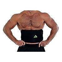 My Pro 支撑腰部修剪器,优质*腹带适合男士和女士锻炼汗液增强型可调节包裹 - 腹部肌肉和背部支撑粉色/黑色