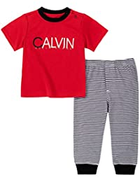 Calvin Klein 男婴 2 件裤子套装