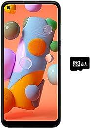 Samsung 三星Galaxy A11(32GB,2GB)6.4英寸双卡GSM解锁,全球4G LTE国际型号(T-Mobile,AT&T,Metro,Cricket)A115M/DS(64GB SD捆绑