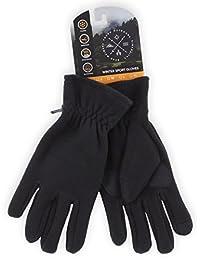 冬季羊毛手套 - 触摸屏,保暖黑色软羊毛手套 适合寒冷天气 - 男女皆宜