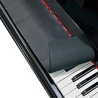 黑色乙烯基钢琴钥匙套 - 键盘防尘罩