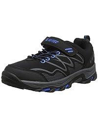 Hi-Tec 男孩 Blackout 低帮高帮登山靴 Black (Black/Blue 21) 2 (34 EU)