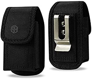 For Horizontal Case, Leather 360 Rotating Pouch Holster for iPhone 5 5S SE 5C LG K3 Zone 3 and Similar-Sized Mobile Phones Vertical Flip Phone Black