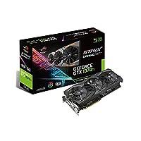 华硕 ROG-STRIX-GTX1070TI-8G-GAMING NVIDIA GeForce GTXX 1070 Ti 显卡 - 黑色