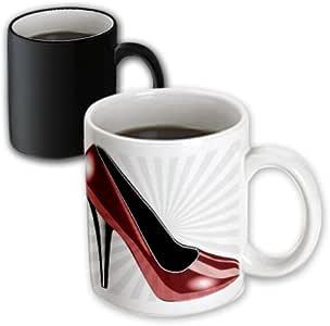mug_54489_3 PS Creations - Dotted Red High Heel - Fashion - Shoes - Art - Mugs - 11oz Magic Transforming Mug