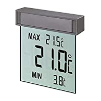 TFA Dostmann 数字窗式温度计 30.1025,带外部温度的大显示屏