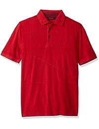 Nautica 男式经典修身短袖 POLO 衫带缝合细节