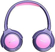 Philips 飞利浦 儿童耳机 KH402PK/00 无线入耳式耳机 (蓝牙 85 分贝,20 小时游戏时间 LED 面板,软耳垫) 粉色