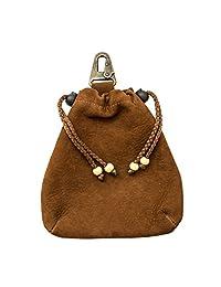 Hide & Drink 手工制作的柔软皮革抽绳袋:Swayze 麂皮