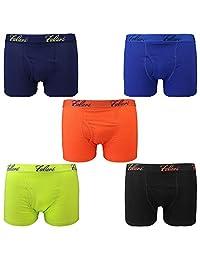 Falari 5 件装男童平角内裤,棉质,*舒适柔软,高品质