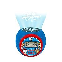 Lexibook RL977PA Paw Patrol Marshall,Rubble,Chase,Stella和Everest 投影闹钟,带闹钟功能,夜灯带定时器,LCD屏幕,电池供电,蓝色/红色