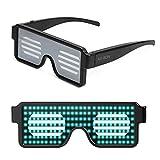 AX-BON 霓虹 LED 眼镜,可充电玩具太阳镜 8 小时,可工作 8 小时,万圣节圣诞节和各种聚会(5 种颜色) 绿色