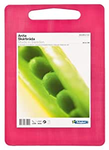 Linden Sweden-Daloplast Anita 13-1/4-Inch by 9-3/4-Inch Large Cutting Board, Pink