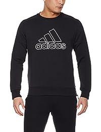 adidas 阿迪达斯 男式 运动型格 套头衫 CV6211 黑 CREW DENIM ZIP