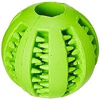 Wendin TOY IQ 球 适用于 DOGS & CATS **咬咬咬咬合耐用* - 不含 BPA - 结实牙齿清洁狗玩具球 适用于宠物 IQ 训练/玩耍/咀嚼,软橡胶,弹跳,网球尺寸