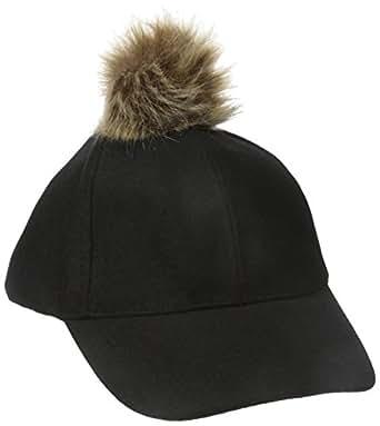 RAMPAGE 女式冬季帽,带人造皮毛 黑色 One Size