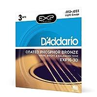 D'AddarioEXP16-3D 3 件装 Light, 12-53