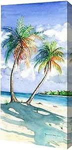 "PrintArt GW-POD-33-R831D-12x24 ""棕榈阴影"" 来自 Christine Reichow 画廊装裱艺术微喷油画艺术印刷品 6"" x 12"" GW-POD-33-R831D-6x12"