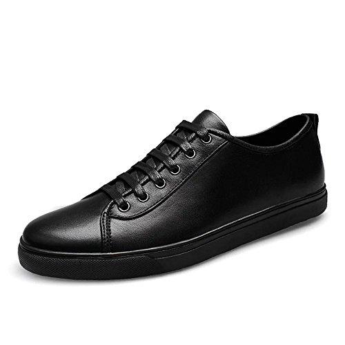 Virility 温尔仕 2017新款男士英伦时尚牛皮板鞋 四季户外休闲大码男鞋 潮流时尚驾车鞋 LH502SIJI-V