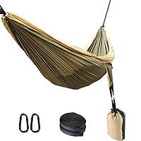 YOOMALL 带树带双露营吊床,支撑 600 磅,轻松设置室内户外旅行