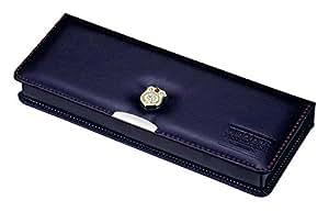 Kutsuwa 磁铁笔盒 Clarino DX 1门 珍珠藏青色