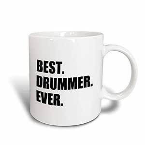3dRose InspirationzStore 排版 - Best Drummer Ever - 送给鼓舞专业音乐家的有趣音乐工作自豪礼物 - 马克杯 白色 15盎司 mug_179776_2