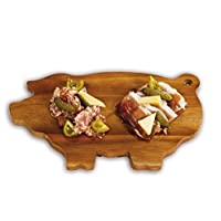 Picnic Plus 猪形亚麻木板适用于肉类、奶酪、开胃菜、砧板、菜板
