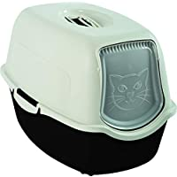 Rotho Bailey 猫厕所 带盖 黑色/白色