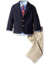 Nautica Little Boys' Solid Poplin/Twill Duo Set