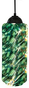 Uncommon Radiance 2000BLKLCY122 手工吹制 Lg 圆筒玻璃吊灯融合贵金属灰*哑光黑色